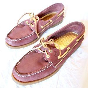 Sperry's women's purple gold size 10 top slider